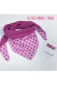 Chèche et barette roses Les Jolis Mômes