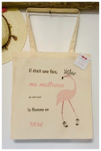 Tote bag La flemme en rose