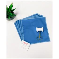 """Kit 5 masques barrières adultes bleus """"A vos masques, ..."""""""