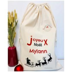 Hotte de Noël personnalisée - Coton