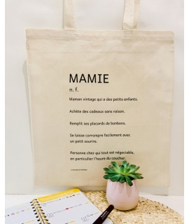 Tote bag Définition Mamie