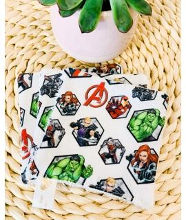 3 carrés lingettes Avengers