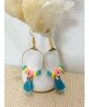Boucles d'oreilles en perles d'Heishi
