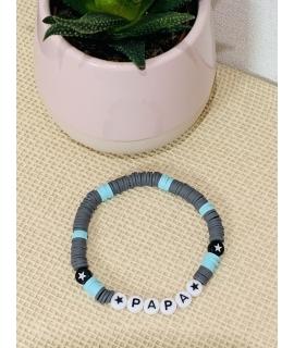 Bracelet en perles Heishi Papa