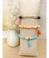 Bracelet en perles Heishi
