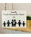 Sticker Famille Boîte aux lettres